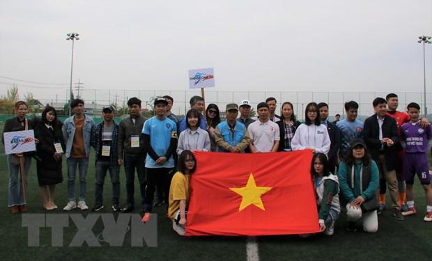 Lao dong Viet Nam tai Han Quoc chao mung ngay 30/4 va 1/5 hinh anh 1