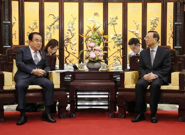Tang cuong lien lac Trung-Han ve phi hat nhan hoa Ban dao Trieu Tien hinh anh 1
