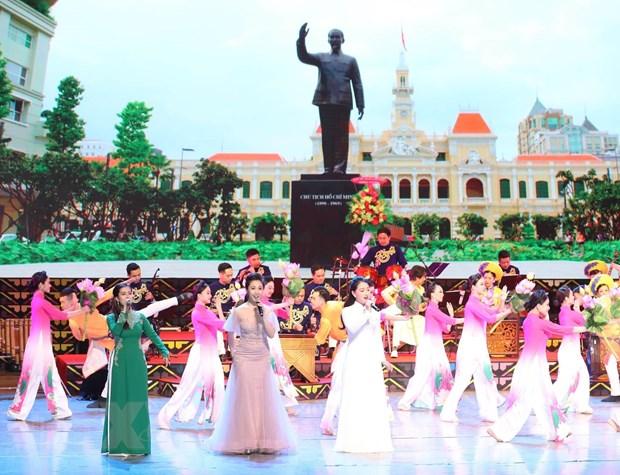 [Photo] Chu tich Quoc hoi du chuong trinh 'Nhip cau huu nghi' hinh anh 3