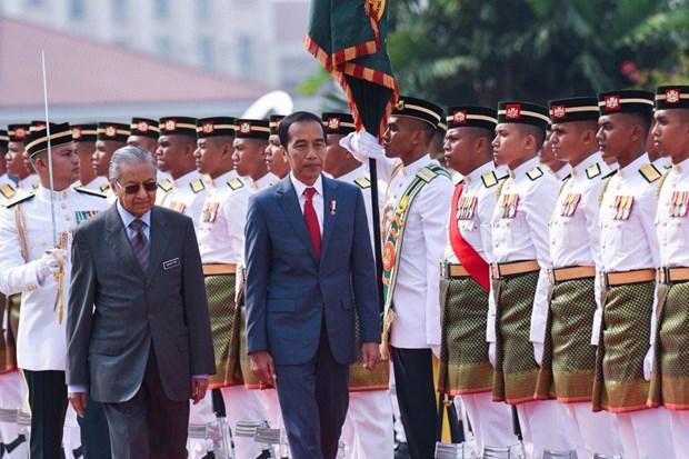 Tổng thống Indonesia Joko Widodo (phải) và người đồng cấp Malaysia Mahathir Mohamad. Nguồn: SCMP