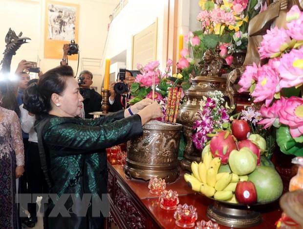 [Photo] Chu tich Quoc hoi tham ba con kieu bao tai tinh Udon Thani hinh anh 2