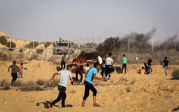 Hon 50 nguoi Palestine bi thuong trong cac vu dung do tai Gaza hinh anh 1