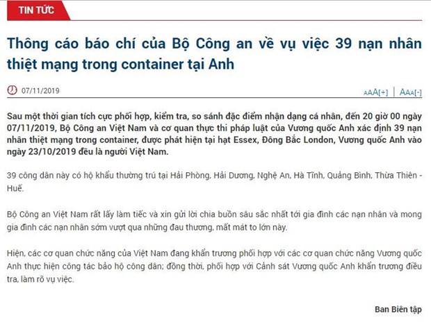 39 nan nhan thiet mang trong container o Anh deu la nguoi Viet Nam hinh anh 2