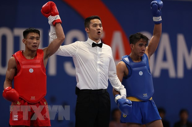 SEA Games 30: Wushu Viet Nam tiep tuc co huy chuong Vang hinh anh 1
