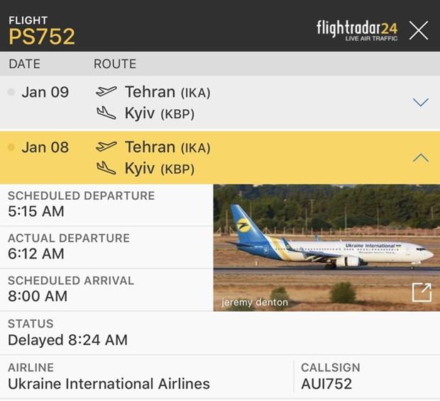 May bay Boeing 737 cua Ukraine cho 180 nguoi gap tai nan tai Iran hinh anh 1