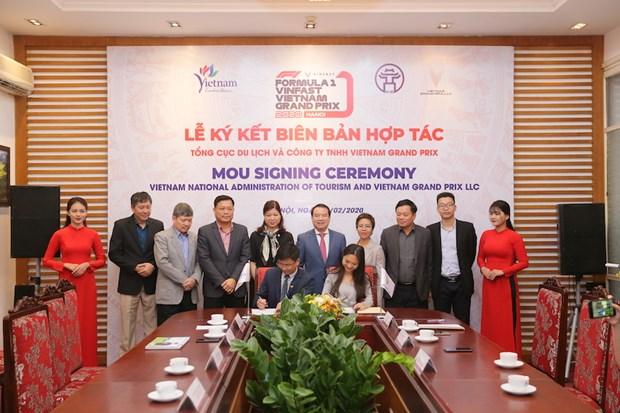 Vietnam Grand Prix hop tac voi Tong cuc Du lich Viet Nam hinh anh 1