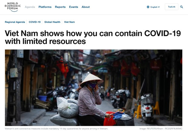 WEF: Viet Nam tro thanh 'ngon hai dang' ve ung pho voi dich COVID-19 hinh anh 1