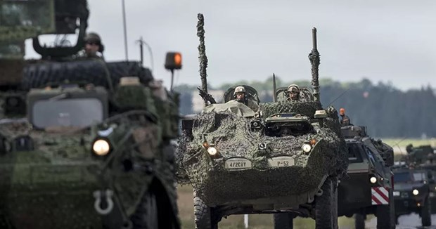 NATO bat dau cuoc tap tran quan su da quoc gia tai Latvia hinh anh 1