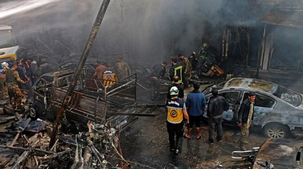 Syria: Danh bom xe tai cho nhien lieu, gan 100 nguoi thuong vong hinh anh 1
