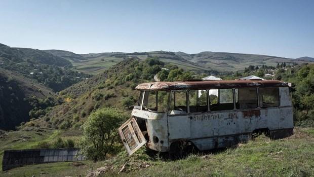 CSTO quan ngai cang thang o bien gioi Armenia-Azerbaijan hinh anh 1