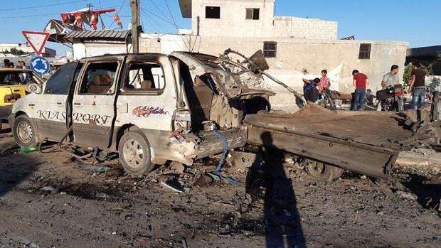 Syria: Danh bom xe o Azaz khien 90 nguoi thuong vong hinh anh 1