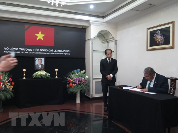 Le vieng nguyen Tong Bi thu Le Kha Phieu tai Brunei va Bangladesh hinh anh 1