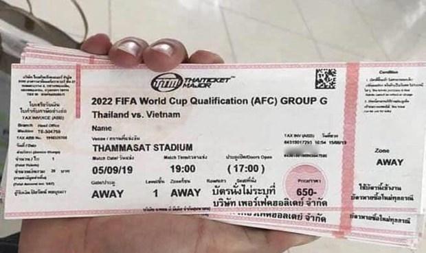 Sot ve tran Thai Lan doi dau Viet Nam, tang gap gan 10 lan gia goc hinh anh 1