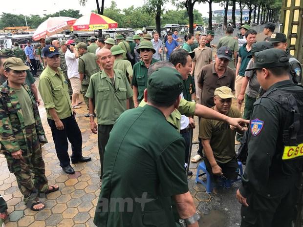 Nhieu thuong binh pha cong tru so VFF doi ve tran Viet Nam-Malaysia hinh anh 1