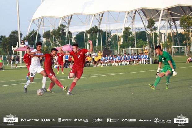 HLV Park Hang-seo khong chi dao, U22 Viet Nam hoa U22 Myanmar hinh anh 1