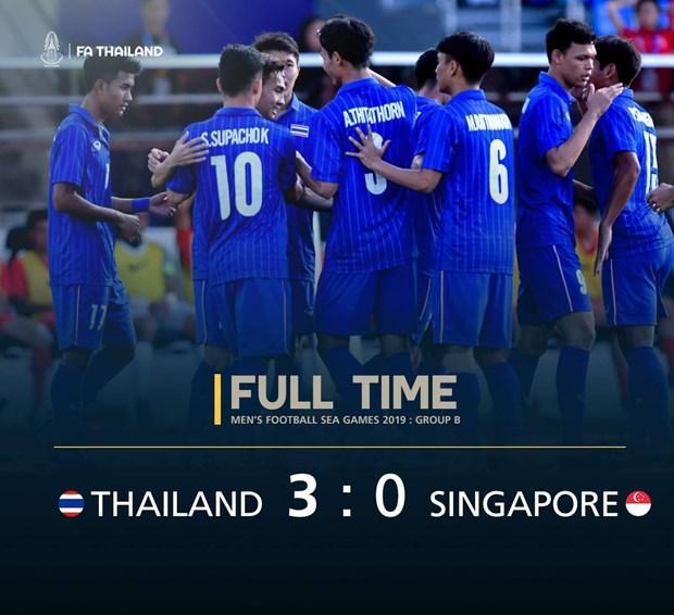 Thang Singapore, U22 Thai Lan gay suc ep len tran Viet Nam-Indonesia hinh anh 1
