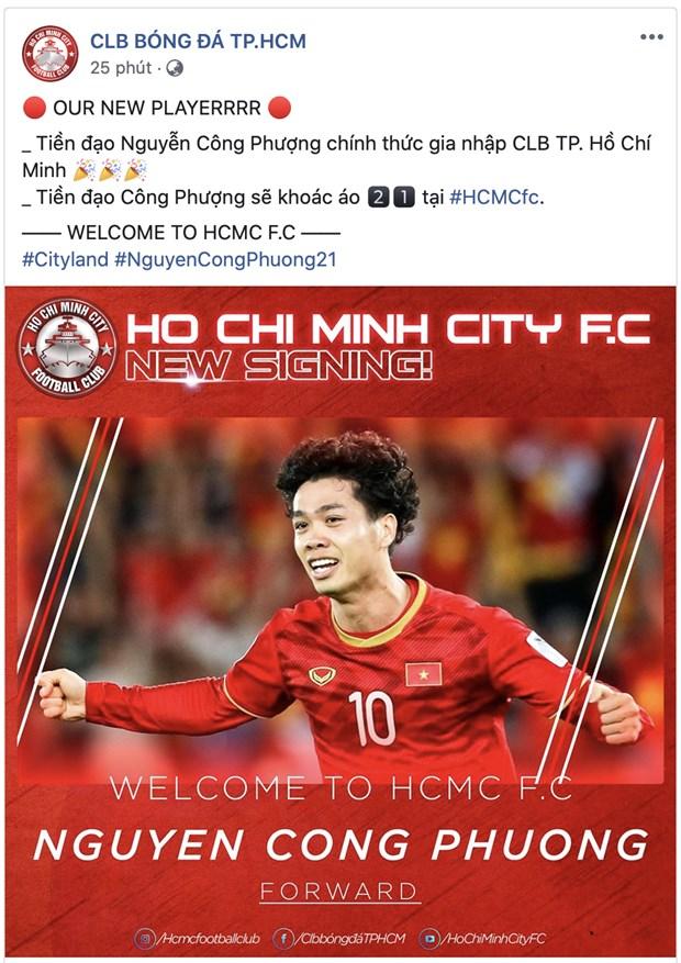 Cong Phuong chinh thuc ve CLB TP.HCM sau nhieu don doan hinh anh 1
