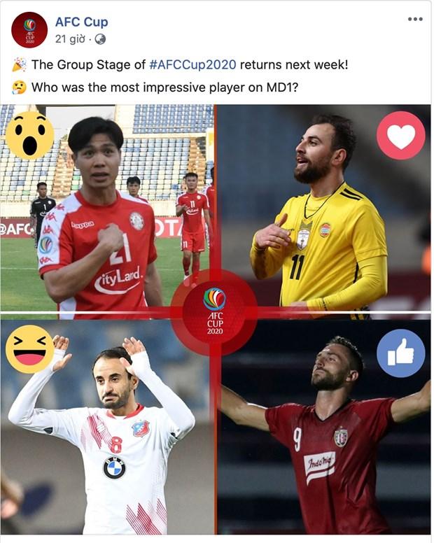 Cong Phuong va Van Quyet duoc AFC Cup vinh danh hinh anh 1