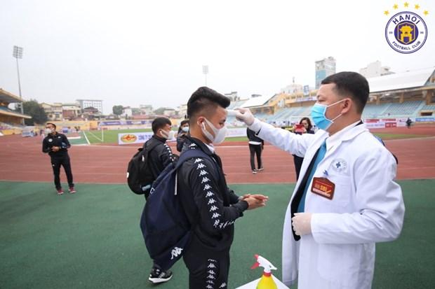 Kiem tra y te nghiem ngat truoc tran dau cua Ha Noi FC tai Hang Day hinh anh 1