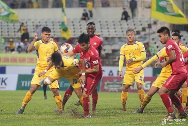 SLNA thang kich tinh Hai Phong, tru hang thanh cong o V-League 2020 hinh anh 1