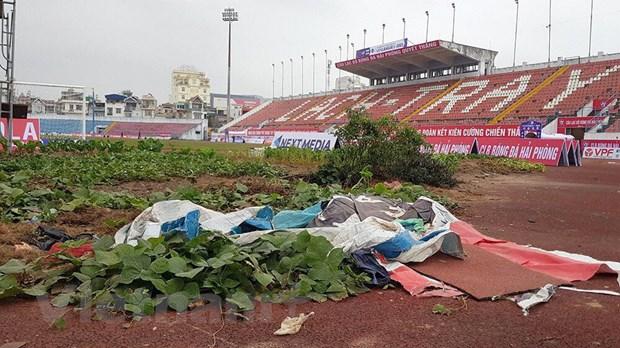 V-League 2021: Nhieu san thi dau kip tu sua, san sang cho ngay tro lai hinh anh 1