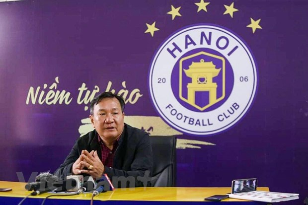 Tan HLV Ha Noi FC mong cau thu doan ket de bam duoi HAGL o V-League hinh anh 1