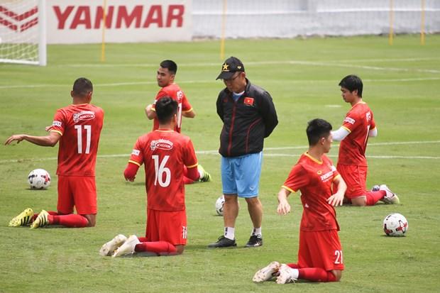 World Cup 2022: Tuyen VN tap giua trua nang nham gia tang the luc hinh anh 1