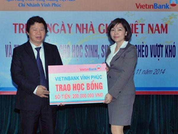 VietinBank Vinh Phuc tang 200 suat hoc bong cho hoc sinh ngheo hinh anh 1