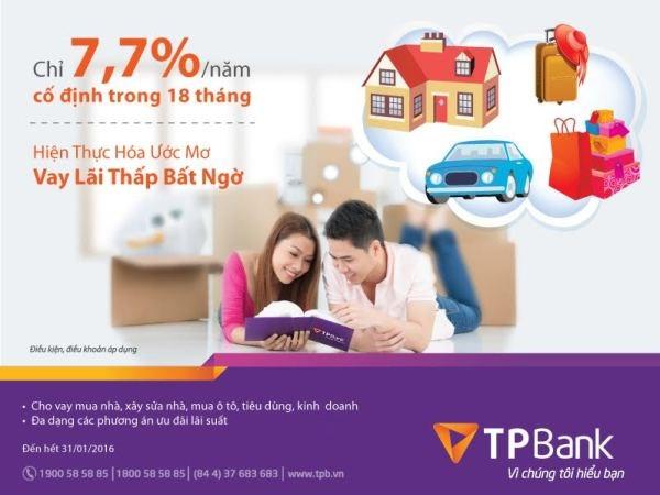 TPBank cho vay lai suat chi 7,7%/nam co dinh trong 18 thang hinh anh 1