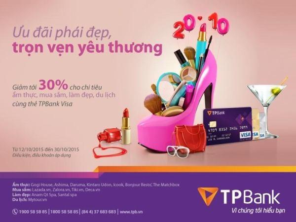 TPBank uu dai toi 30% nhan ngay Phu nu Viet Nam hinh anh 1