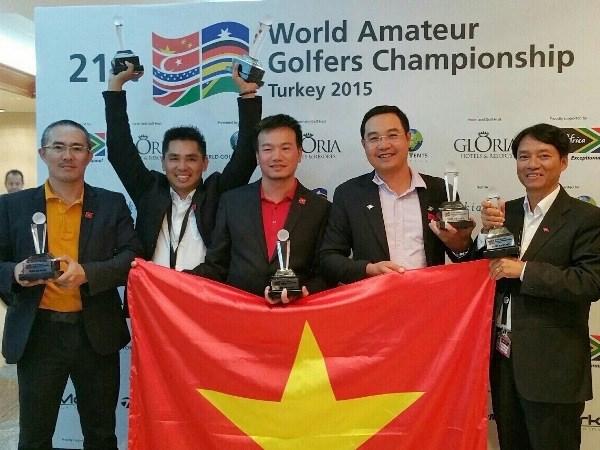 Giai Golf quoc te WAGC: Doan Viet Nam xep thu 3 the gioi hinh anh 1