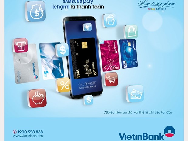 Nhan qua hap dan khi trai nghiem Samsung Pay cung VietinBank hinh anh 1
