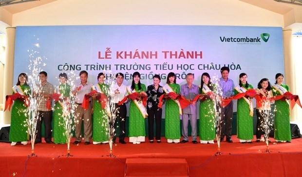 Khanh thanh truong tieu hoc Chau Hoa, Ben Tre do Vietcombank tai tro hinh anh 1