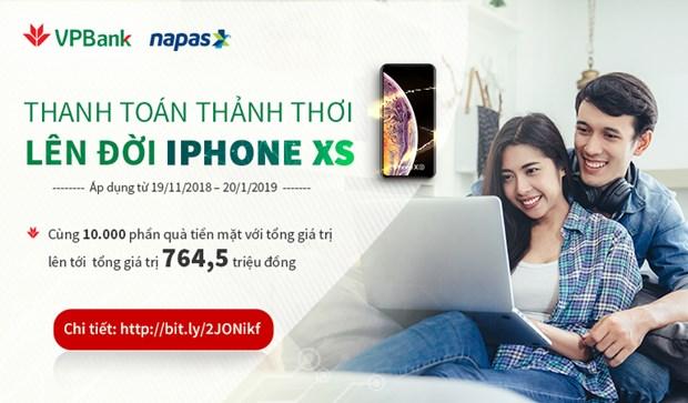 Nap tien dien thoai tren VPBank online co co hoi so huu IPhone XS hinh anh 1