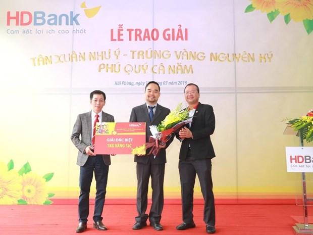Khach hang HDBank tai Hai Phong trung thuong mot kg vang hinh anh 1