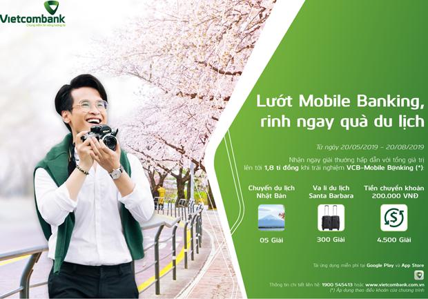 Kich hoat thanh VCB - Mobile B@nking co co hoi du lich Nhat Ban hinh anh 1