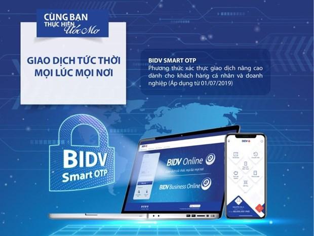Tich hop Smart OTP ngay tren ung dung BIDV SmartBanking hinh anh 1