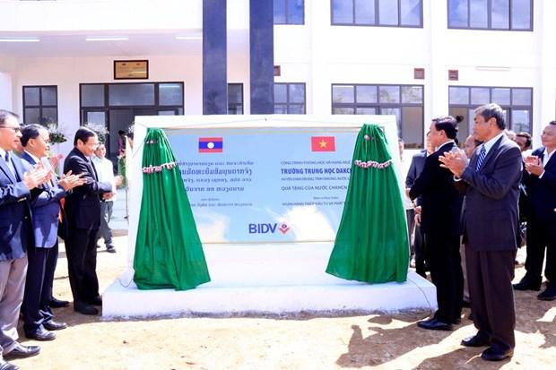 Ban giao truong Trung hoc Dakchueng-cong trinh do BIDV tai tro hinh anh 2