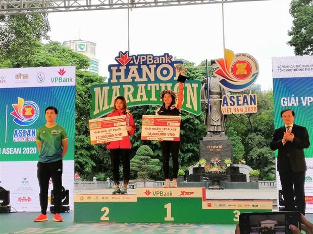 Nhieu 'chan chay' dot pha tai VPBank Hanoi Marathon ASEAN 2020 hinh anh 3