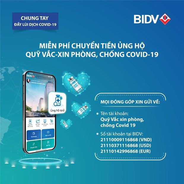 Chuyen tien ung ho khong can nho so tai khoan ngay tren app BIDV hinh anh 1