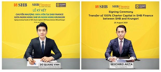 SHB se chuyen nhuong 100% von tai SHB Finance cho ngan hang Krungsri hinh anh 1