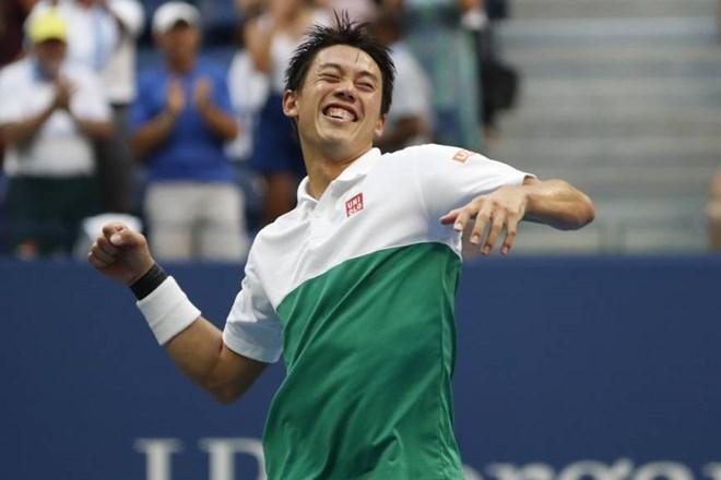 Kei Nishikori vào bán kết US Open 2018. (Nguồn: Reuters)