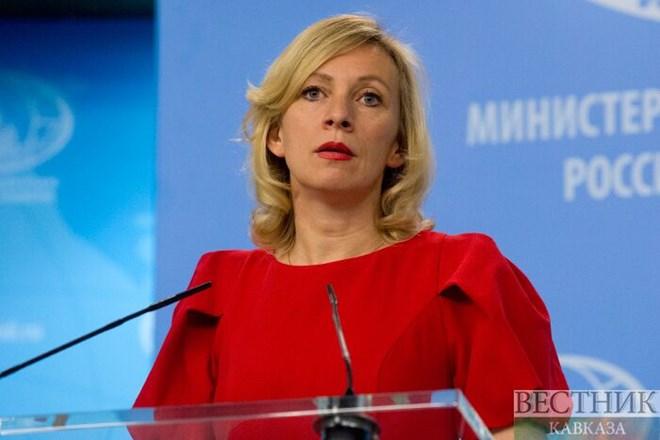 Nữ phát ngôn viên Bộ Ngoại giao Nga Maria Zakharova. Nguồn: vestnikkavkaza.net