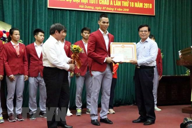 Kết quả hình ảnh cho Hải Dương vinh dự đóng góp 12 vận động viên cho các đội tuyển quốc gia tham dự ASIAD