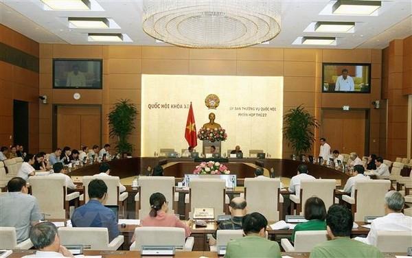 Một phiên họp của Ủy ban Thường vụ Quốc hội khóa XIV. (Ảnh: Nguyễn Dân/TTXVN)