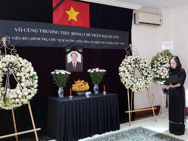 Lễ viếng Chủ tịch nước Trần Đại Quang tại Myanmar