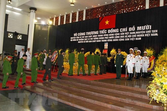 Trên 1.500 đoàn trong nước, quốc tế viếng nguyên Tổng Bí thư Đỗ Mười