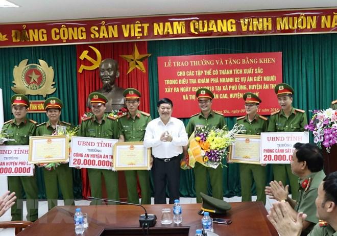 Khen thưởng thành tích phá án 2 vụ giết người nghiêm trọng ở Hưng Yên - ảnh 1