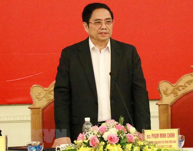 Ủy viên Bộ Chính trị, Bí thư Trung ương Đảng, Trưởng Ban Tổ chức Trung ương Phạm Minh Chính. Nguồn: TTXVN