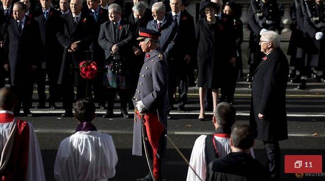 Tổng thống Đức dự lễ kỷ niệm kết thúc Thế giới thứ nhất tại Anh